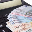 Stock Photo: Euro bank notes