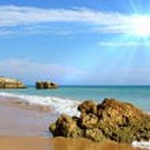 Atlantic beach — Stock Photo