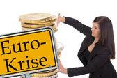 Krize eura — Stock fotografie