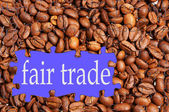 Fair trade coffee — Stock Photo