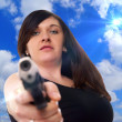 Woman with handgun — Stock Photo #23198710