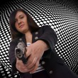 Stock Photo: Woman with handgun