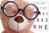 Teddy with glasses — Stock Photo