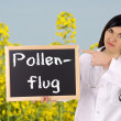 Pollen flight - Stock Photo