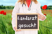 Looking for a country doctor — Stockfoto