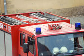 Fire fighting vehicle — Stockfoto