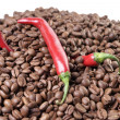 Chili and coffee — Stok fotoğraf