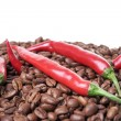 Chili and coffee — Stockfoto