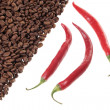Stock Photo: Chili and coffee