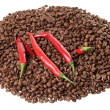 Coffee and chili — Stock Photo