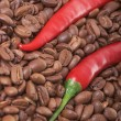 Chili and coffee — 图库照片