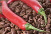 Chili and coffee — Stock Photo