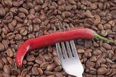 Peperoncino e caffè — Foto Stock
