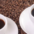 Coffee cup and coffee beans — Stok fotoğraf