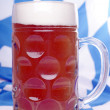 Beer mug with wheat beer — Stockfoto