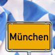 Town sign Munich — Stock Photo