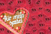 Gingerbread heart — Stock Photo