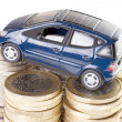 Car and Euro Money — Stock Photo