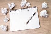 Blank notepad — Stock Photo
