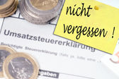 VAT return — Stockfoto