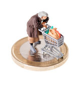 Pensioner poverty — Stock Photo