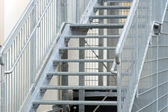 Steel staircase — Stock Photo