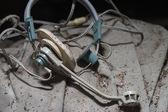 Old headphones — Stock Photo