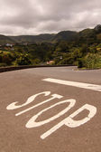 Stop in azores — Stock Photo
