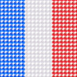 Flag of the France made of leds or bubbles. - Stock Vector