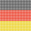 Flag of the Germany made of leds or bubbles. — 图库矢量图片