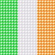Flag of the Ireland made of leds or bubbles. - Stock Vector