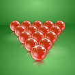 Pool or billiard balls made of glass. Realistic vector illustration. - Stock Vector