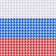 Flag of the Russia made of leds or bubbles. — Stock Vector