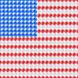 Flag USA United States of America made of leds. — Stock Vector