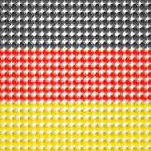Flag of the Germany made of leds or bubbles. — Stock Vector