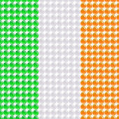 Flag of the Ireland made of leds or bubbles. — Stock Vector