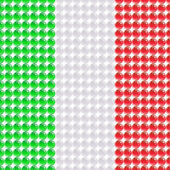 Flag of the Italy made of leds or bubbles. — Stock Vector