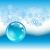 Water abstract background with bubble. — Stock Vector