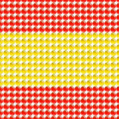 Flag of the Spain made of leds or bubbles. — Stock Vector