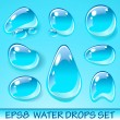Vector Water Drops Icon Set — Stock Vector