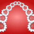 Royalty-Free Stock Vector Image: White flowers on red background