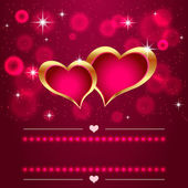 Two hearts — Stock Vector