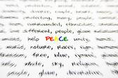 Mot paix avec bords flous — Photo