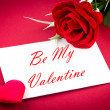 Greetings card be my valentine — Stock Photo #39316281