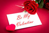 Greetings card be my valentine — Stock Photo