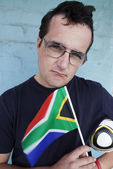 South African Soccer Supporter — Stockfoto