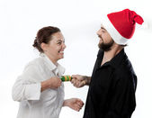Party Cracker Tug of War — Stock Photo