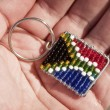 Stock Photo: Beaded South AfricFalg
