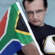 Intense South African Soccer Fan — Stock Photo #40142885