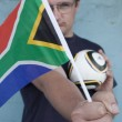 Intense South African Soccer Fan — Stock Photo #40143335